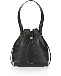 Alexander Wang | Prisma Drawstring Hobo In Black With Rhodium | Lyst