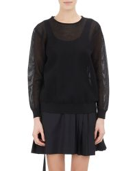 Tim Coppens - Mesh Long-sleeve Top - Lyst