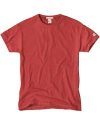 Todd Snyder X Champion Classic Crew T-Shirt In Nantucket Red red - Lyst