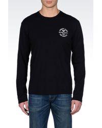 Armani Jeans Longsleeve Print Jersey Tshirt - Lyst