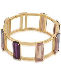Carolee - Modern Rose Gold-Tone And Multi-Color Bangle Bracelet - Lyst