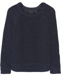 Rag & Bone Kendall Crochet-knit Cotton-blend Sweater - Lyst