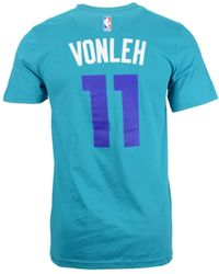 Adidas Mens Noah Vonleh Charlotte Hornets Player T-shirt - Lyst