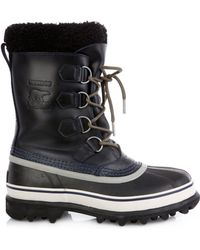 Sorel Caribou™ Leather And Rubber Boots - Lyst
