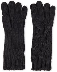 Ivanka Trump - Cable Knit Gloves - Lyst