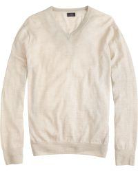 J.Crew Lightweight Italian Merino Wool V-Neck Sweater - Lyst