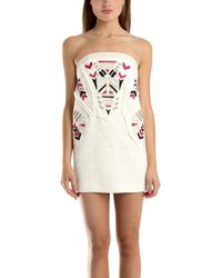 IRO Steve Embroidered Dress white - Lyst
