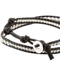 Colana - Leather Wrap Bracelet W/ Pure Silver - Lyst