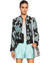 3.1 Phillip Lim Poly-Blend Jacket With Leather Belt And Piping - Lyst