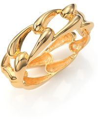 Kenneth Jay Lane Link Bangle Bracelet - Lyst