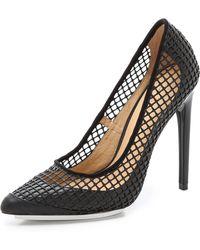 L.A.M.B. - Sandy Mesh Court Shoes - Lyst