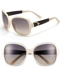 Gucci Women'S 58Mm Oversized Sunglasses - Ivory - Lyst