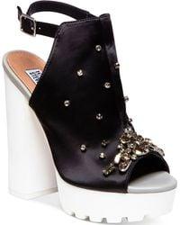 Steve Madden By Iggy Azalea Tempo-S Bling Platform Dress Sandals - Lyst