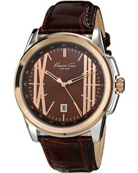 Kenneth Cole Brown Classic Watches - Lyst
