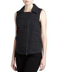 Donna Karan New York Vintage Washed Vest - Lyst