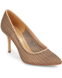 Enzo Angiolini Cicely Embossed Perforated Pumps - Lyst