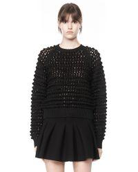 Alexander Wang Bubble Stitch Sweater - Lyst