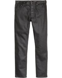 H&M | Coated Trousers | Lyst