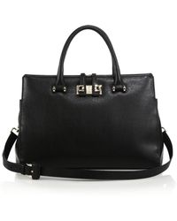 Furla Exclusively For Saks Fifth Avenue Mediterranean Medium Textured Leather Tote - Lyst