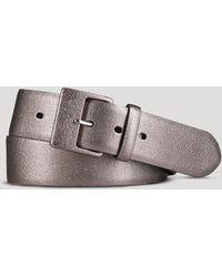 Ralph Lauren Lauren Belt - Metallic Textured Leather - Lyst