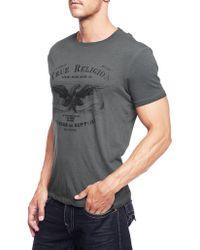 True Religion Eagle Crew T Shirt Ss - Lyst