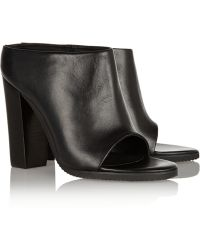 Tibi Leona Leather Mules - Lyst