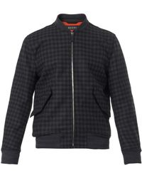 Gucci Checked Woolblend Bomber Jacket - Lyst