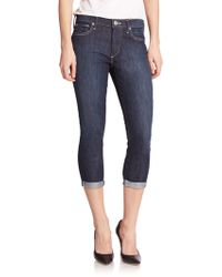 True Religion Halle Mid-Rise Cropped Skinny Jeans blue - Lyst
