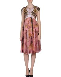 McQ by Alexander McQueen Kneelength Dress - Lyst