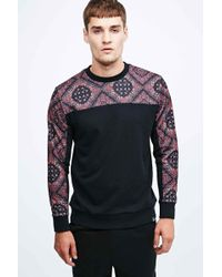 Worland - Mesh Bandana Sweatshirt In Black - Lyst