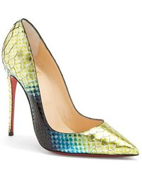 Christian Louboutin 'So Kate' Painted Genuine Python Pointy Toe Pump - Lyst