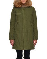 Mr & Mrs Italy - Fur-Lined Long Canvas Parka - Lyst