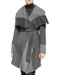 Diane Von Furstenberg Double-face Wrap Coat - Lyst