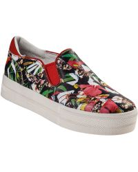 Ash Jungle Slip-On Sneaker Multi Coral Leather floral - Lyst