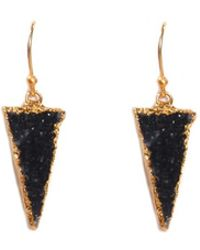 Theodosia - Druzy Triangle Earrings - Lyst