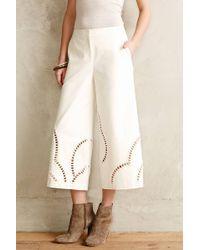 Sachin & Babi Cutwork Wide-Legs - Lyst