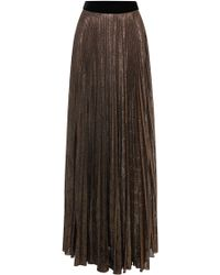 Blumarine Metallic Plisse Maxi Skirt - Lyst