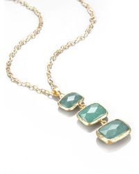 Toosis Vertical Aventurine Necklace - Lyst