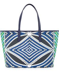orYANY Ava Geometric-Print East-West Tote Bag blue - Lyst