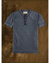 Denim & Supply Ralph Lauren Indigo-Dyed Striped Henley - Lyst