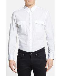 French Connection Men'S 'Amaryllis' Trim Fit Stretch Sport Shirt - Lyst