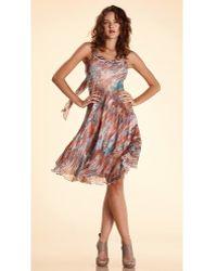 Komarov Chiffon Scarf Dress - Lyst