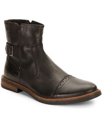 Ben Sherman Elmer Leather Boots black - Lyst