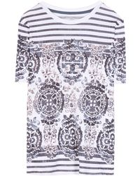 Tory Burch Cathy Cotton T-Shirt - Lyst