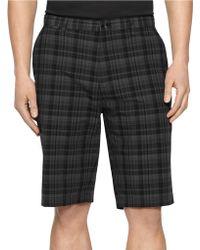 Calvin Klein Plaid Shorts black - Lyst
