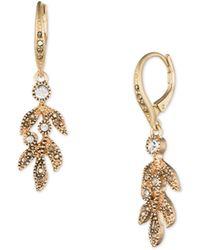 Lonna & Lilly - Jewelled Leaf Drop Earrings - Lyst