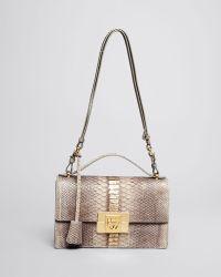 Ferragamo Shoulder Bag - Aileen Python - Lyst