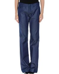 Gucci Blue Casual Trouser - Lyst