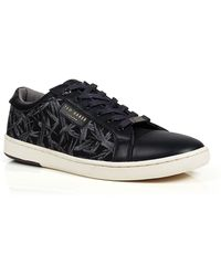 Ted Baker Chaise Floral Canvas And Leather Lace Up Sneakers - Lyst