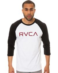 RVCA The Big Raglan - Lyst